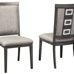 Gray Side Chair Living Room Covers Chadoni Upholstered Set Of 2 From Ashley