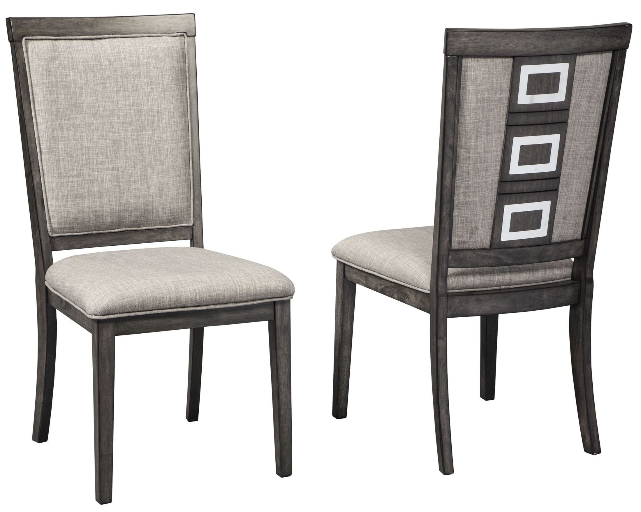 Grey Upholstered Chair Chadoni Gray Upholstered Side Chair Set Of 2 From Ashley