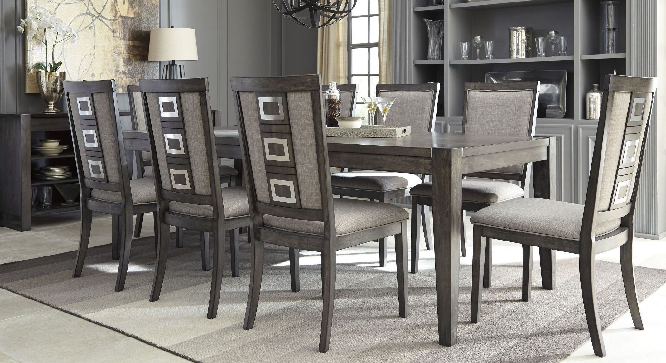 cheap upholstered chairs extra large anti gravity chair with side table chadoni gray rectangular extendable dining room set from ashley | coleman furniture
