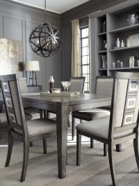 Chadoni Gray Rectangular Extendable Dining Table from