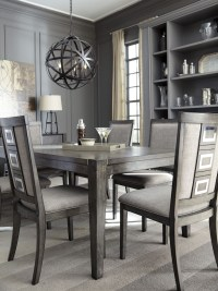 Chadoni Gray Rectangular Extendable Dining Table from ...
