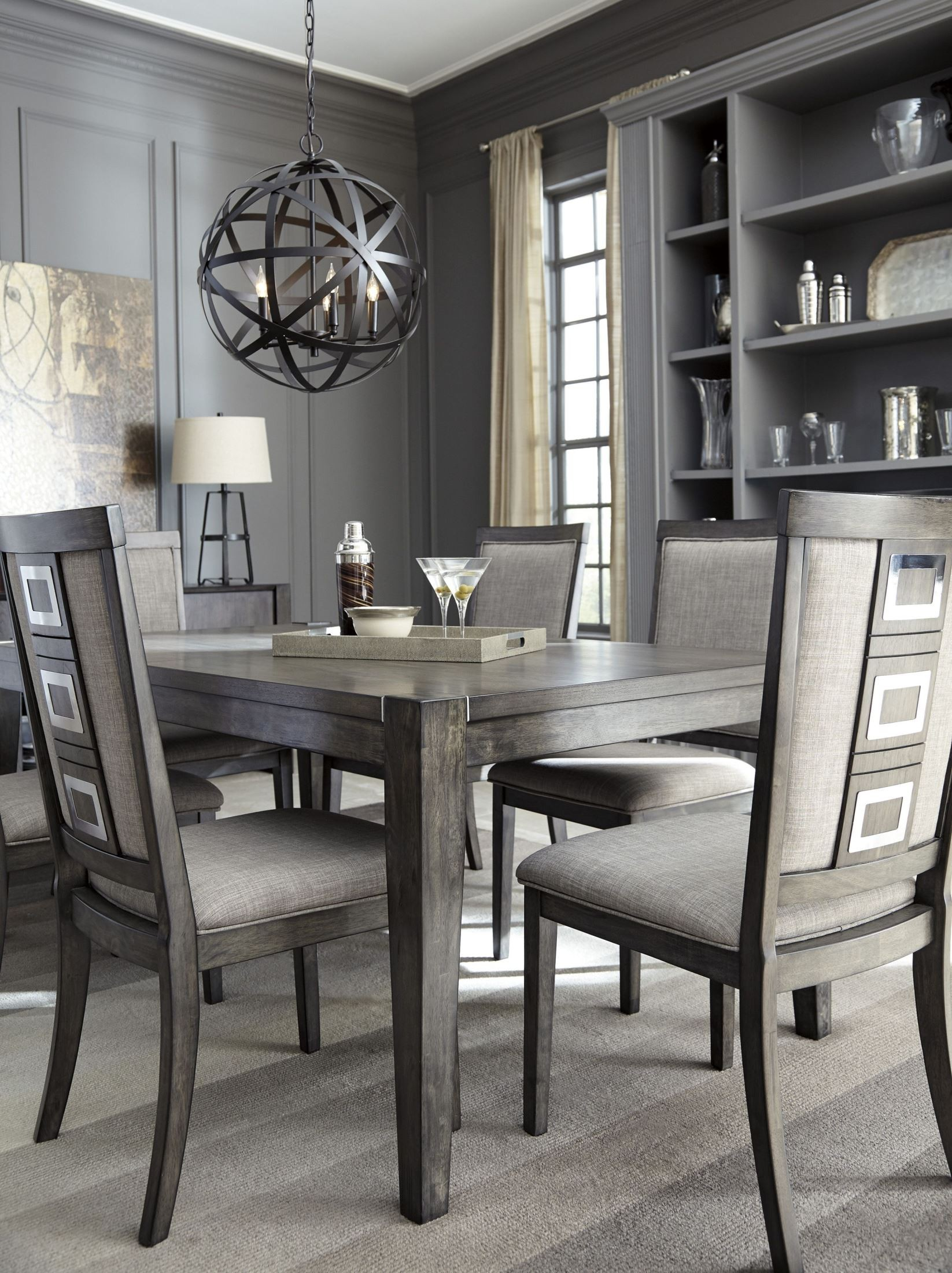 Gray Dining Room Chairs Chadoni Gray Rectangular Extendable Dining Room Set D624