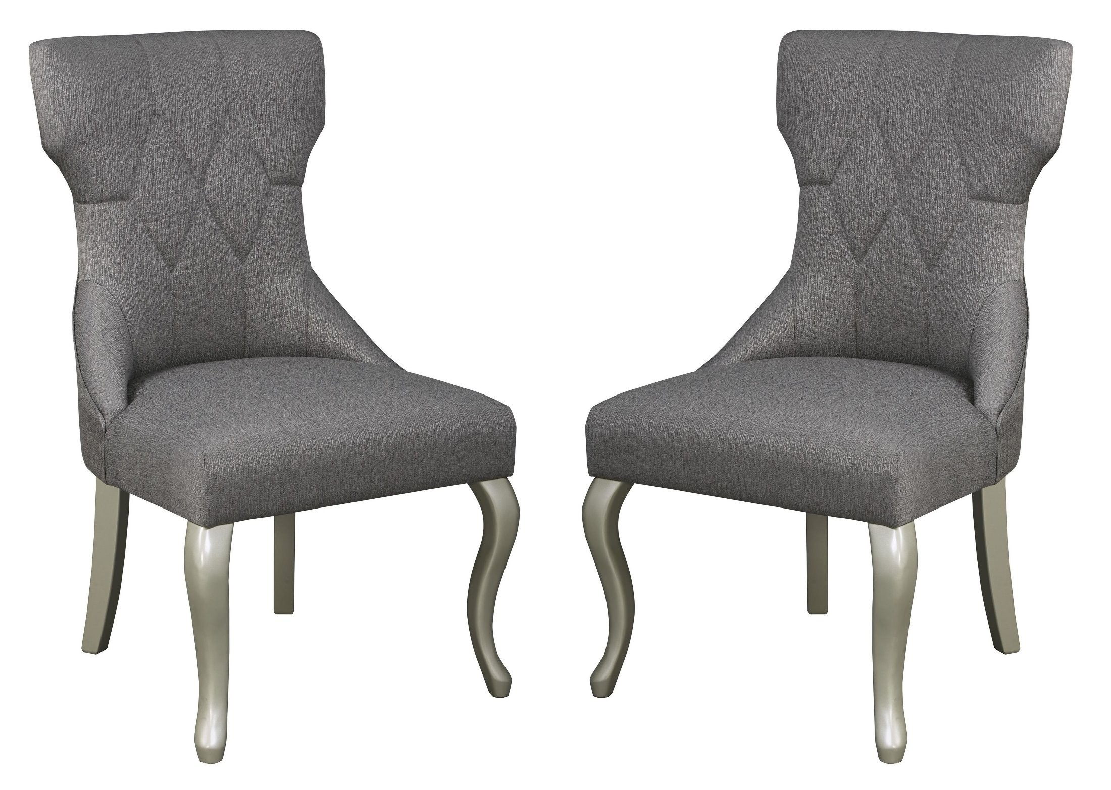 Grey Side Chair Coralayne Dark Gray Dining Upholstered Side Chair Set Of 2
