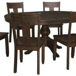 2 Chair Dining Set Zebra Print Trudell Dark Brown Side Of From Ashley