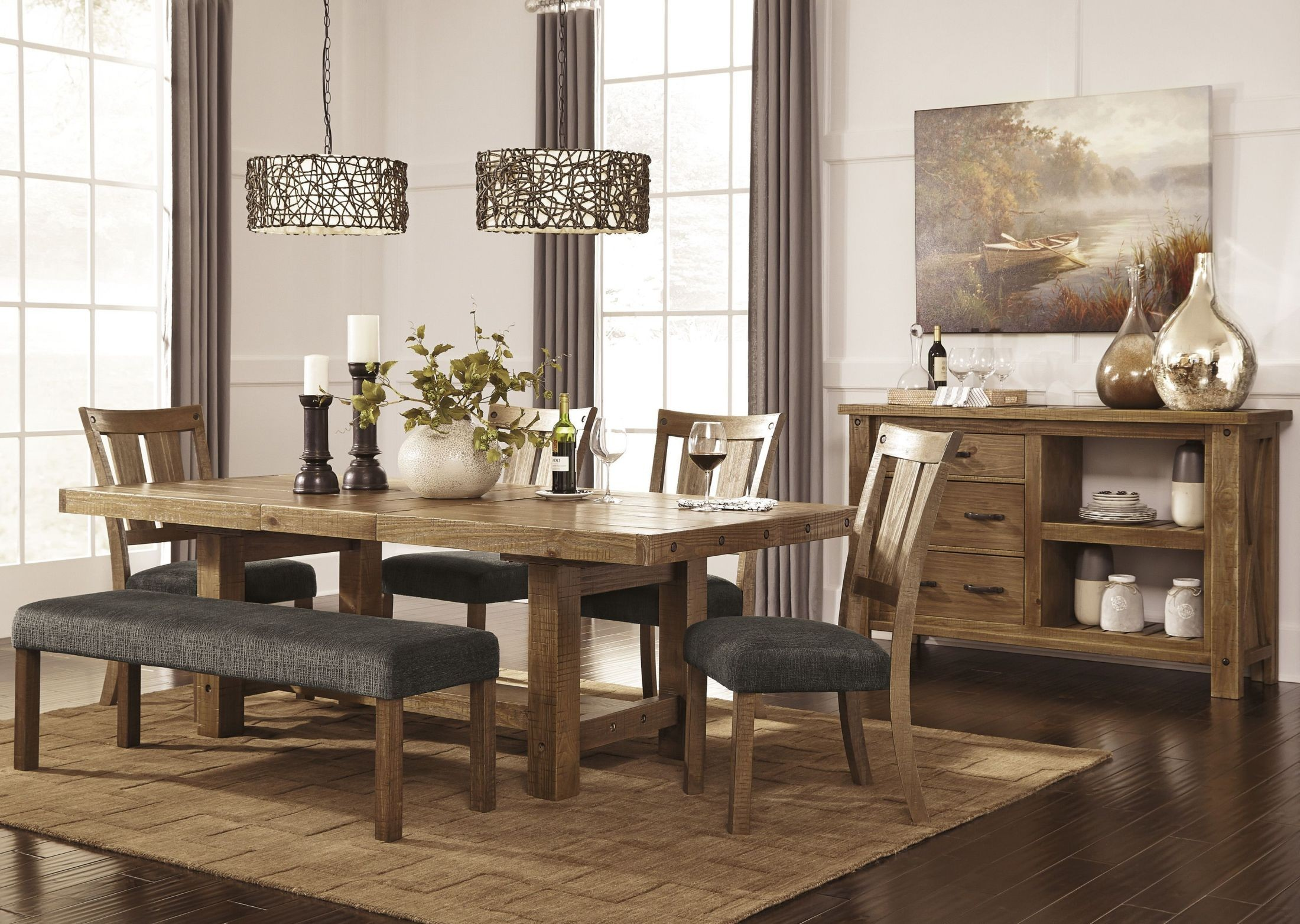 Dining Room Sets Bench And Chairs