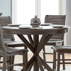 Office Chair Dimensions Dallas Cowboys Folding Willow Distressed Dark Gray Round Counter Height Dining Table From Progressive Furniture ...