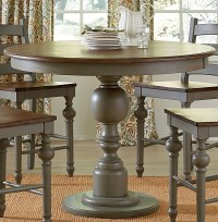 Colonnades Putty and Oak Round Counter Height Dining Table ...