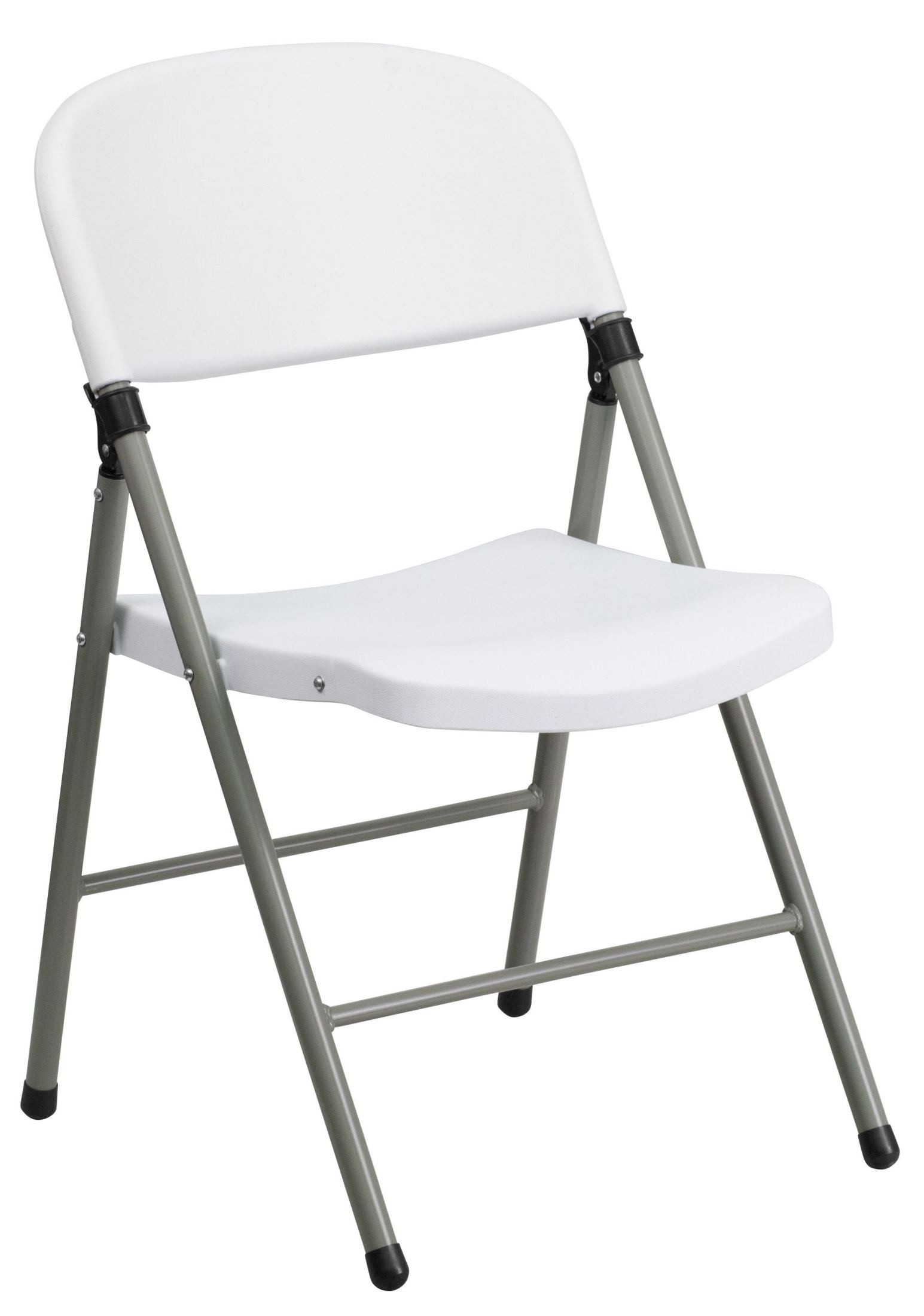 folding chair nylon the chords hercules series white plastic with gray