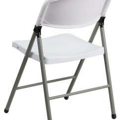 Hercules Folding Chair Woven Garden Chairs Series White Plastic With Gray
