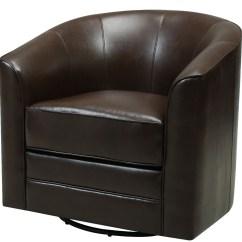 Brown Swivel Chair Configura Accessories Milo Dark From Emerald Home Coleman