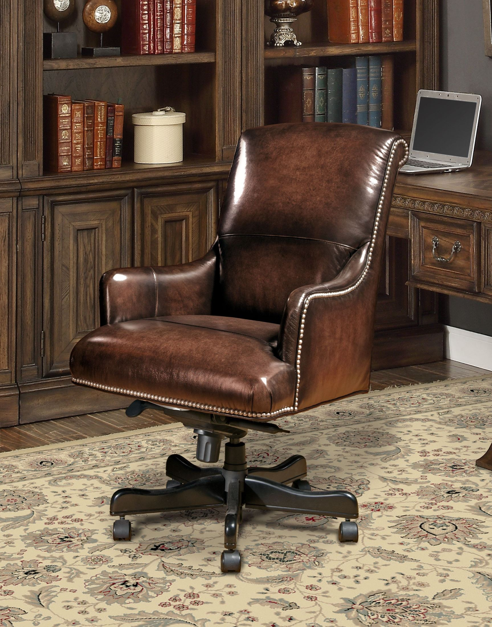 Brown Computer Chair Brown Leather Desk Chair From Parker Living Dc 106 Br