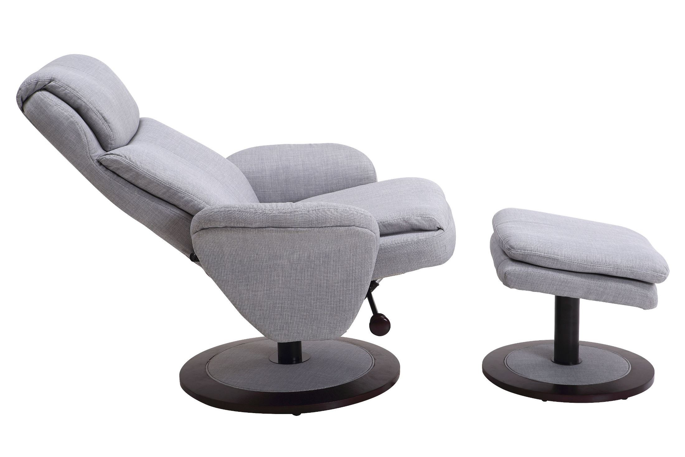 light grey chair used banquet chairs denmark fabric swivel recliner with ottoman