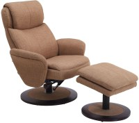 Denmark Taupe Fabric Swivel Recliner with Ottoman, DENMARK ...