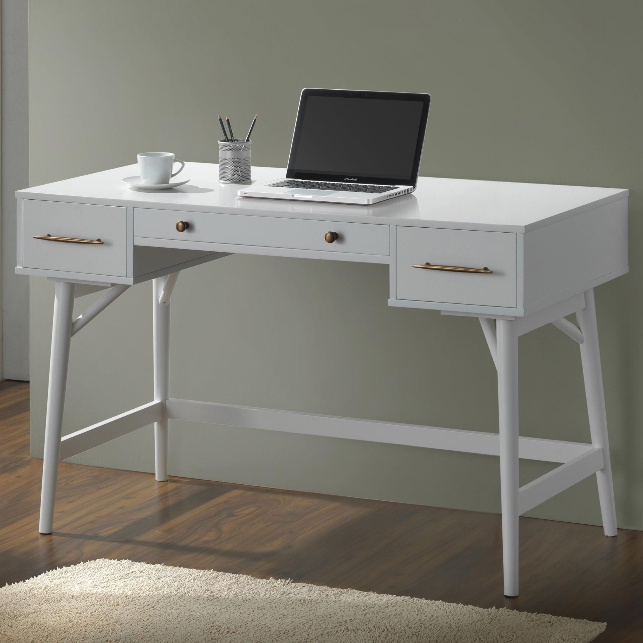 800745 White Writing Desk from Coaster 800745  Coleman