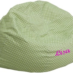 Green Bean Bag Chair Jazzy Power Chairs Personalized Oversized Dot With