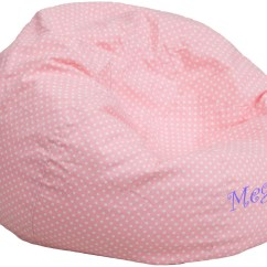 Child Bean Bag Chair Personalized How To Make Chairs Slide On Carpet 32102 Small Light Pink Dot Kids