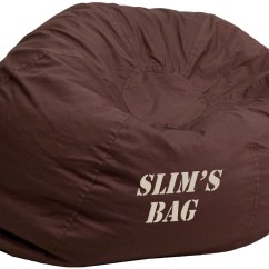 Child Bean Bag Chair Personalized Rocking Metal 32106 Small Solid Brown Kids