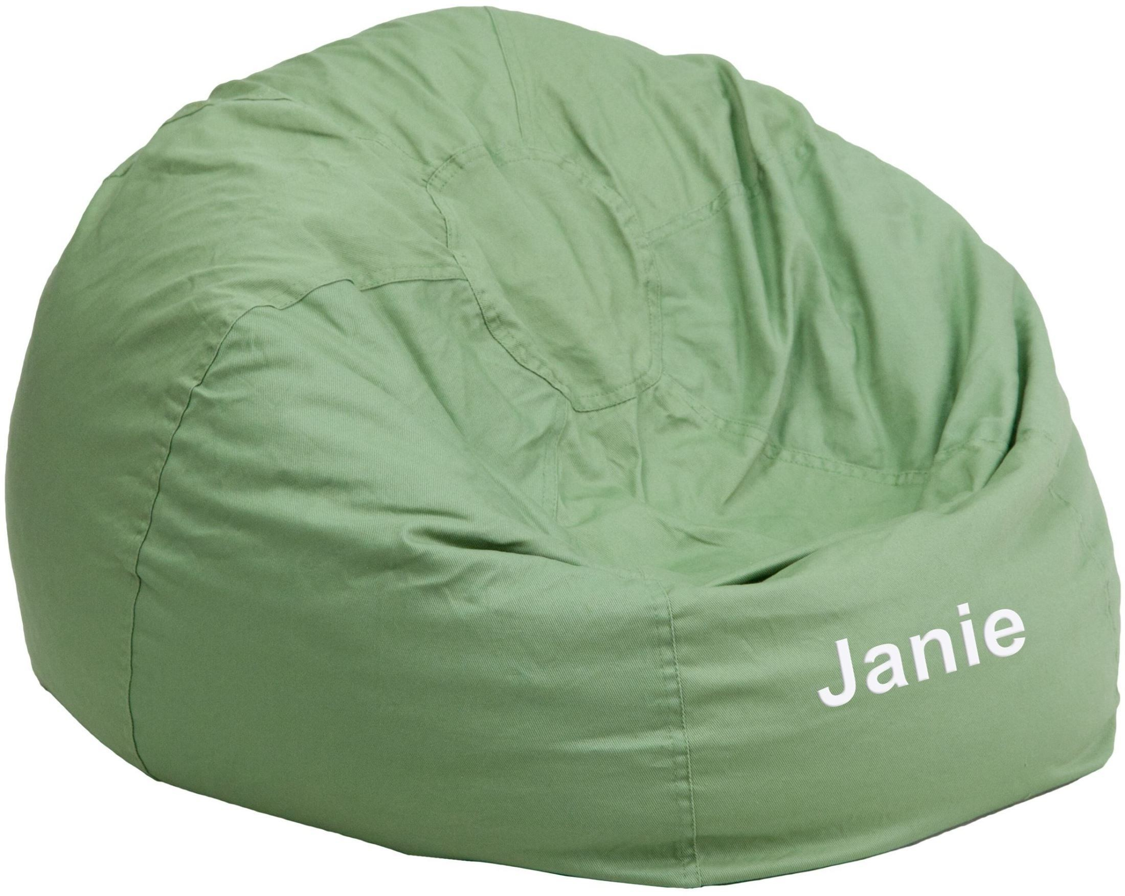 child bean bag chair personalized waterproof garden covers 32110 small solid green kids