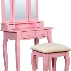 Pink Vanity Chair Best Lumbar Support Office Janelle From Furniture Of America Coleman