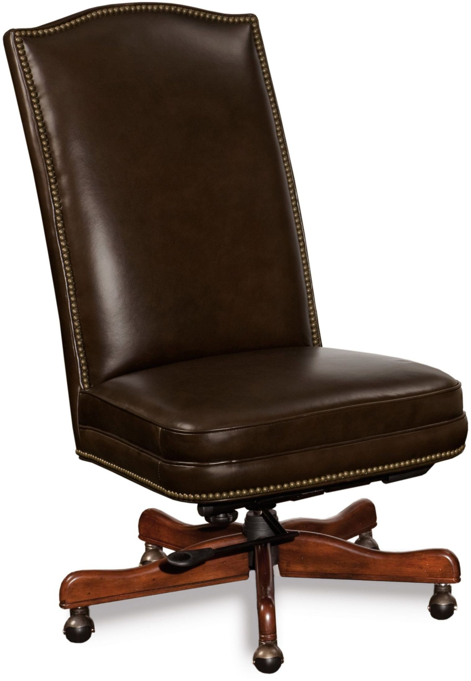 brown swivel chair herman miller beatty leather executive tilt from