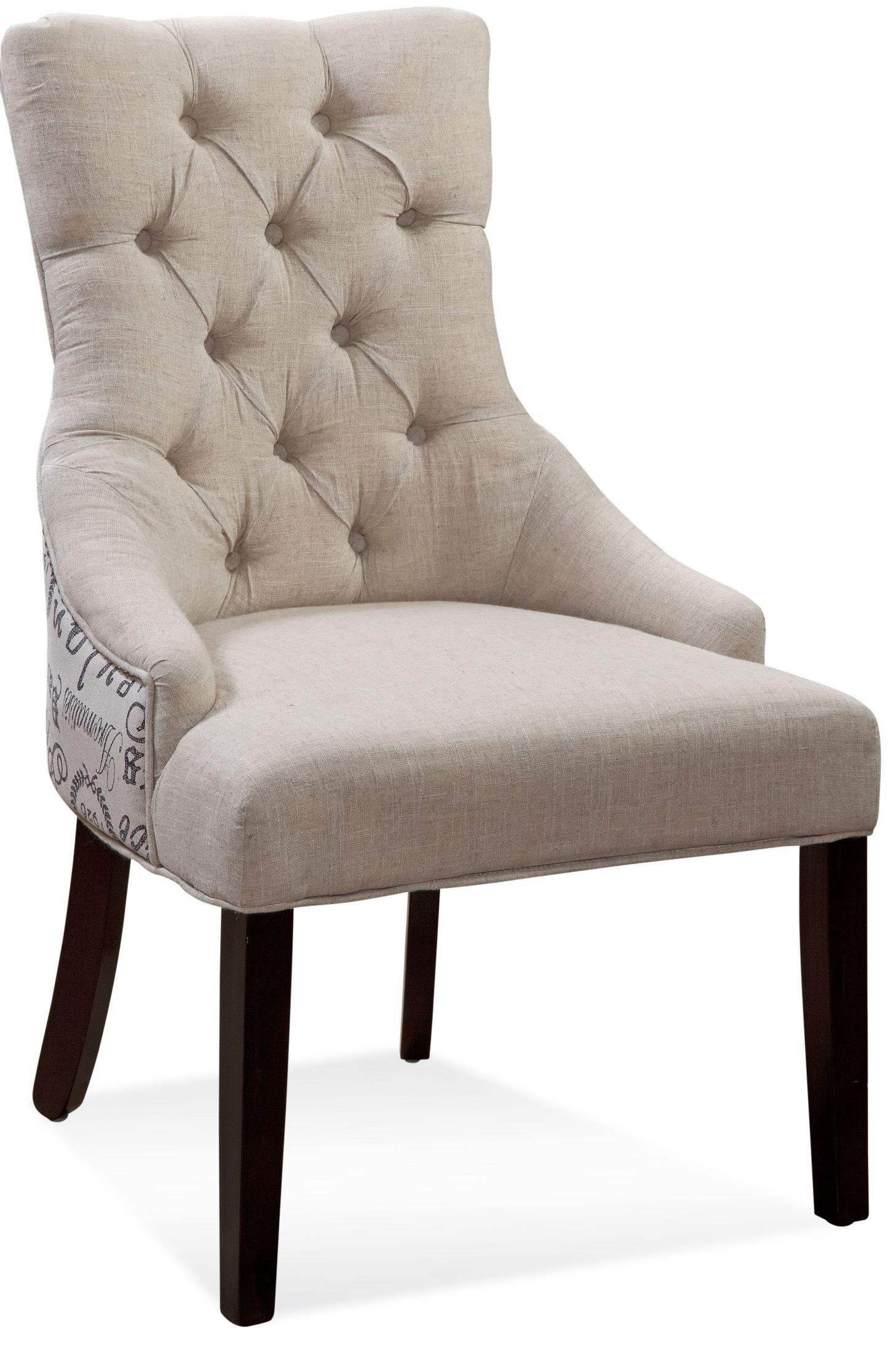 tufted nailhead chair rolling shower fortnum script fabric parson dpch15