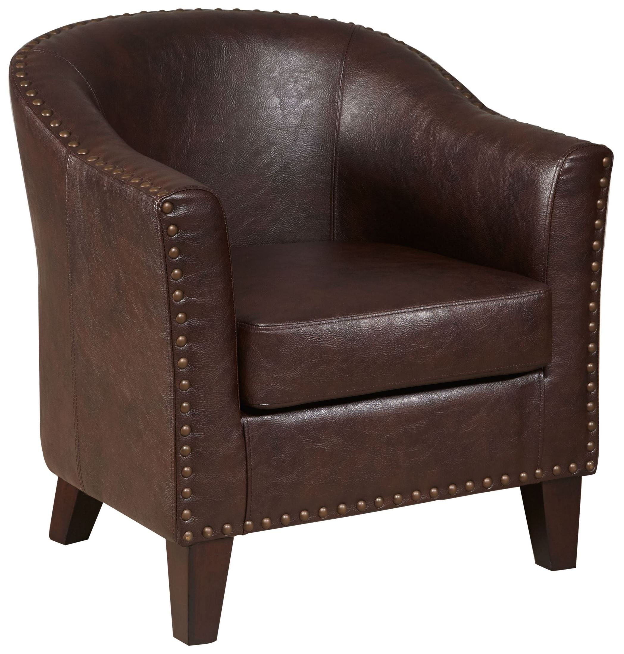 Brown Accent Chairs Traditional Warm Brown Upholstered Accent Chair From