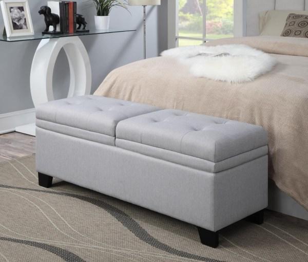 King Bed Upholstered Storage Bench