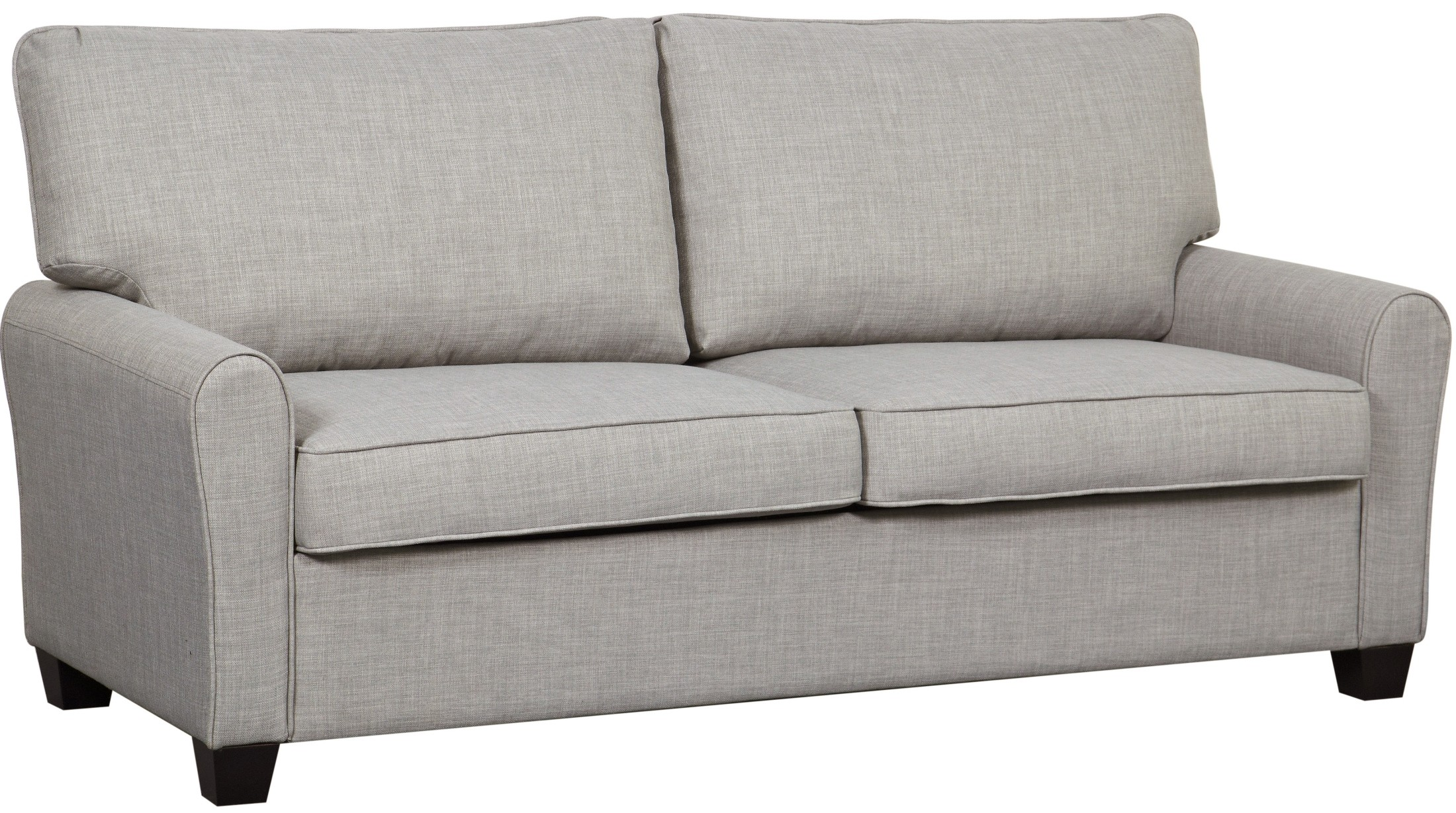 cloud track arm leather two seat cushion sofa sears warranty decorating interior of your house dennison grey from pulaski ds 2637 680 409