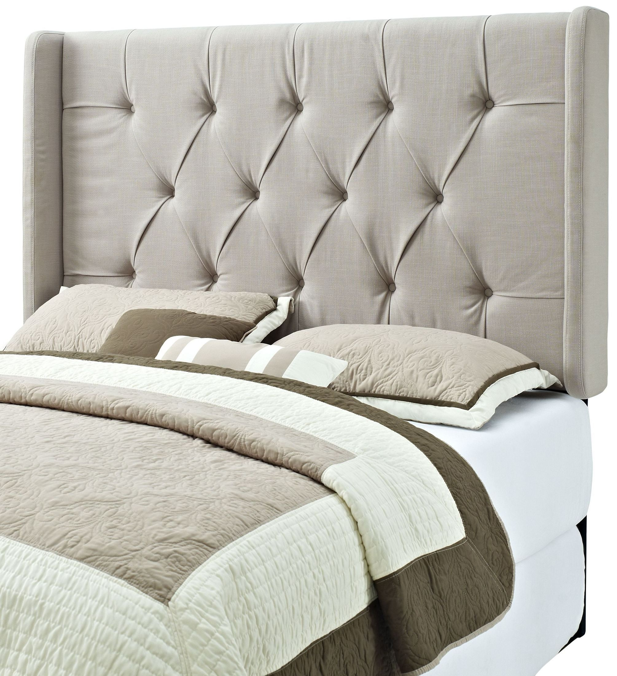 King And Cal King Tufted Panel Wings Headboard From Pulaski Coleman Furniture