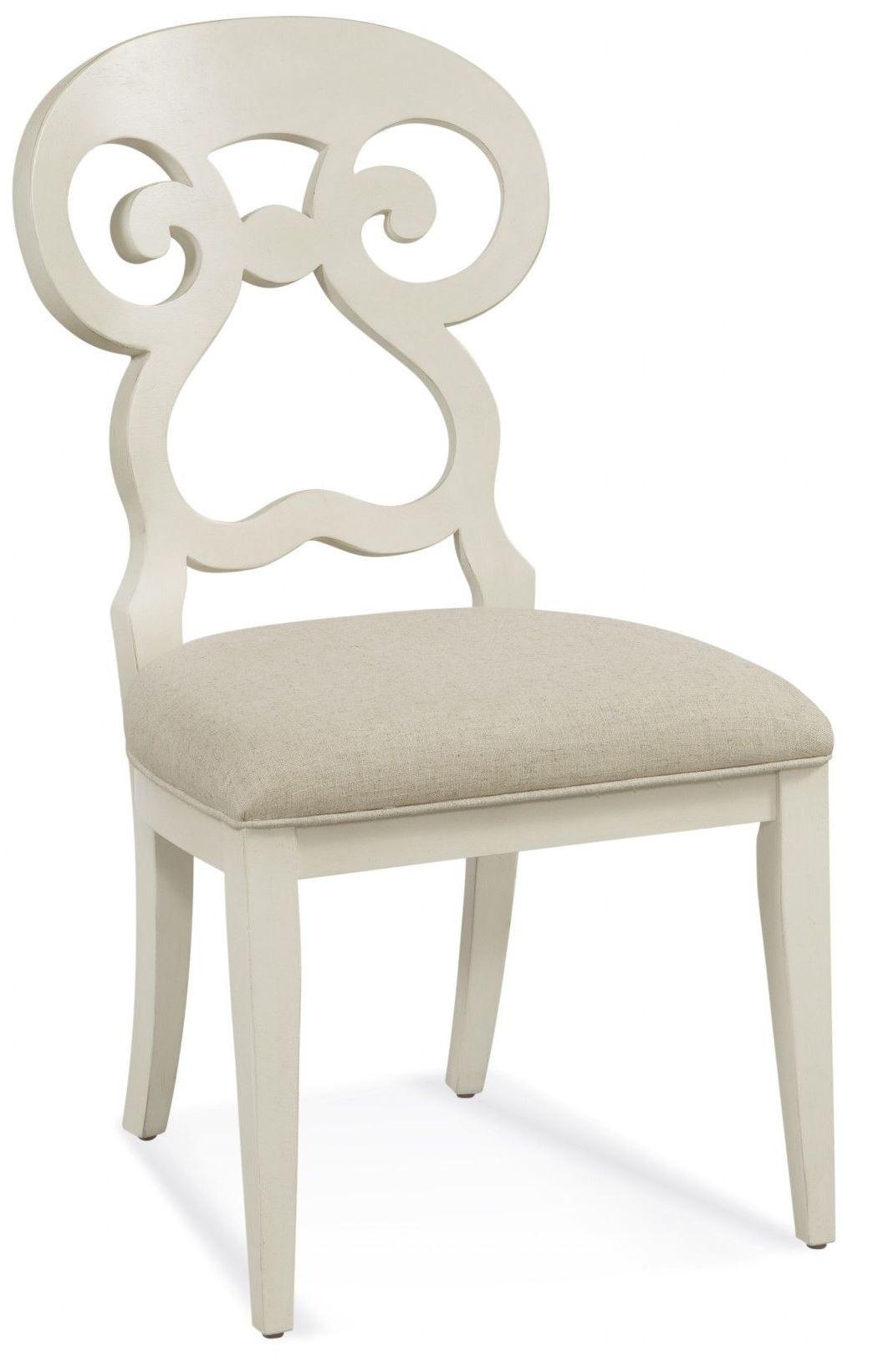 Avery White Parson Chair from Bassett Mirror  Coleman