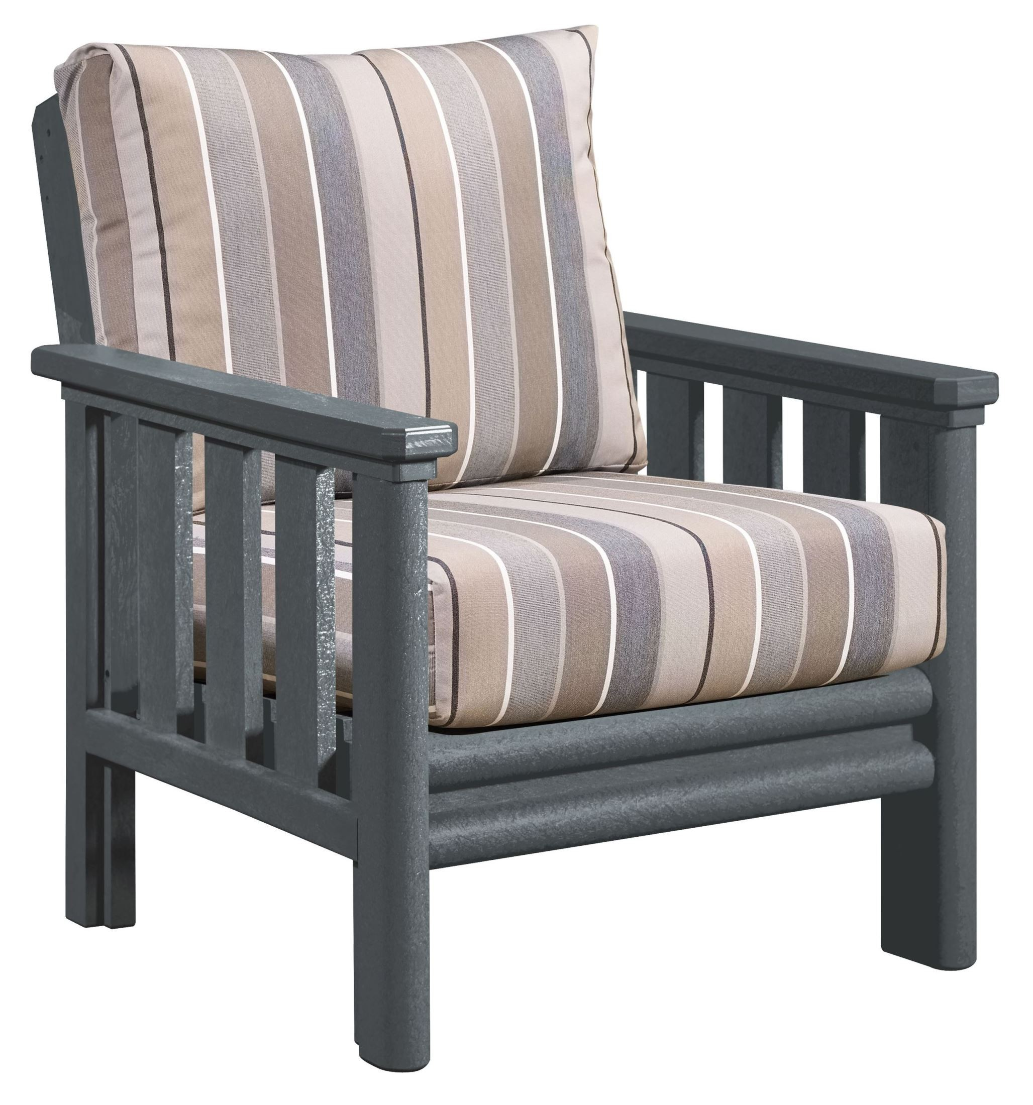 grey chair cushions patio repair kits stratford slate gray with milano charcoal sunbrella