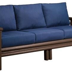 Kingcome Sofa Sale Sm Bacoor Bed Stratford Chocolate With Indigo Blue Sunbrella
