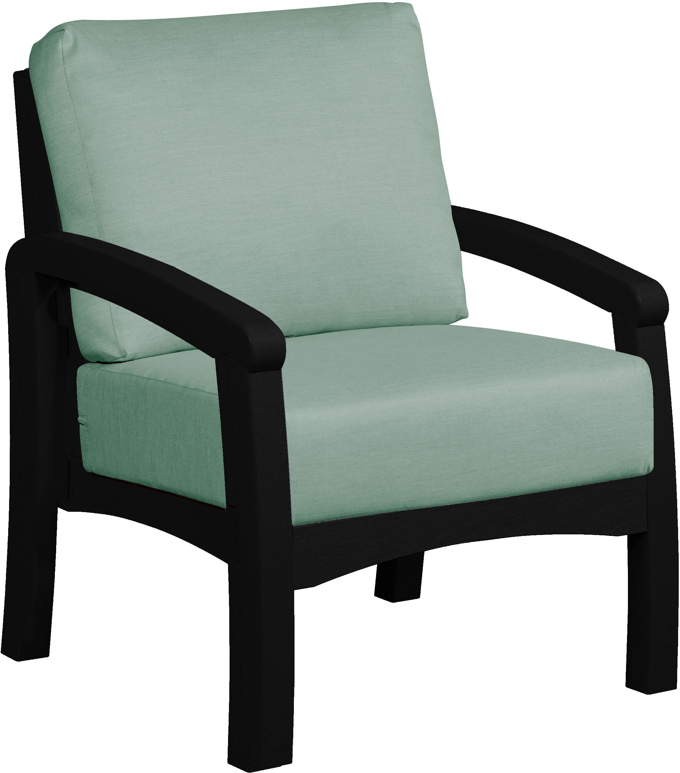 Bay Breeze Black Arm Chair with Canvas Spa Cushion from CR