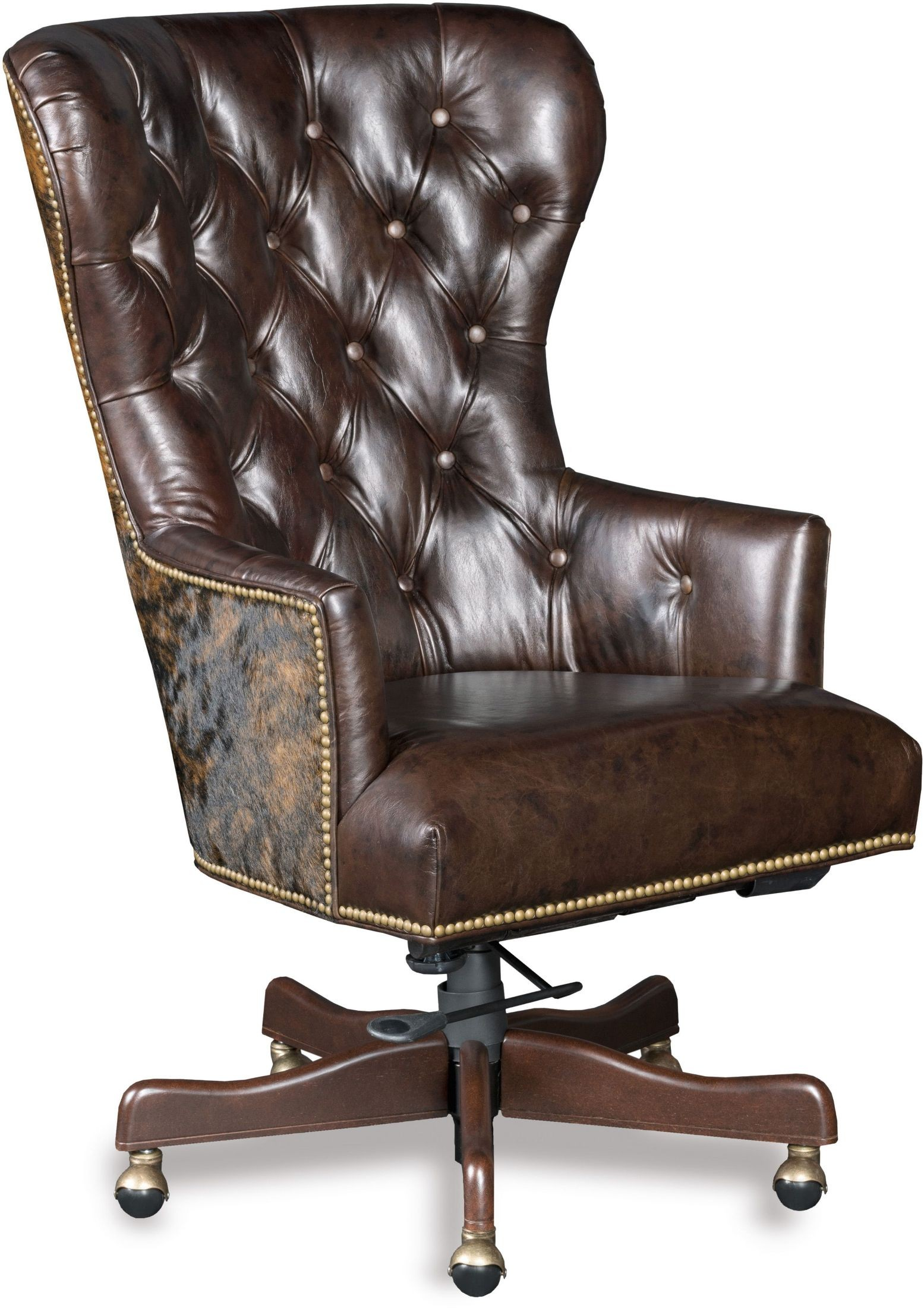 swivel chair brown best for pc gaming 2016 katherine leather home office from