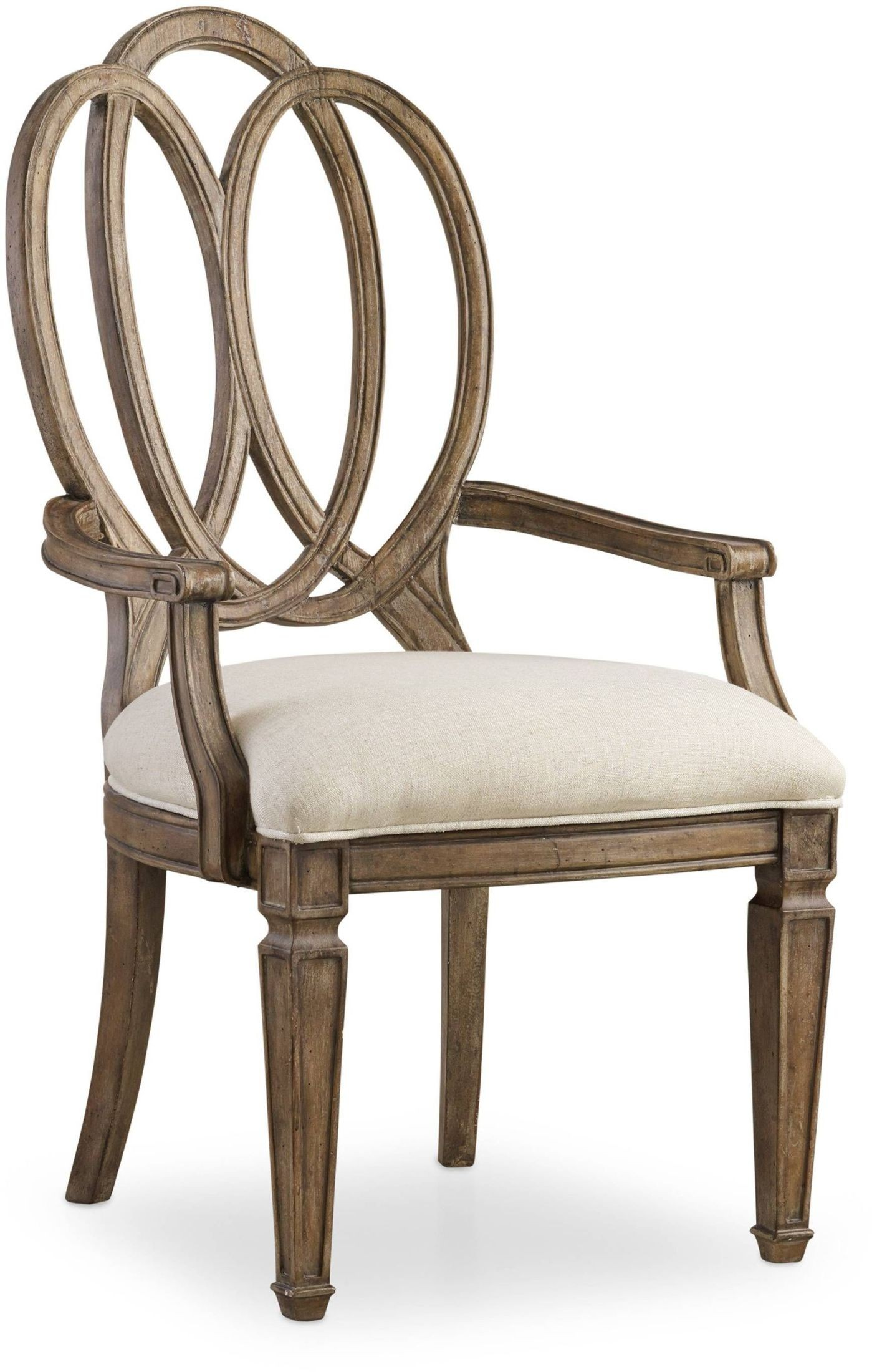 Wood Arm Chair Solana Beige Wood Back Arm Chair Set Of 2 From Hooker