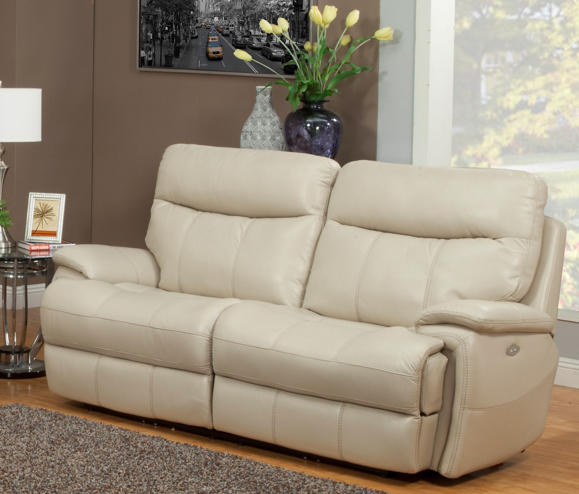 cream colored microfiber sofa chicago single bed creme. park place collection set in finish ...