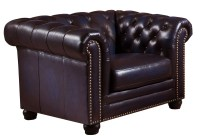 Dynasty Navy Blue Leather Armchair from Amax Leather ...