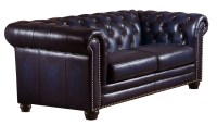 Dynasty Navy Blue Leather Loveseat from Amax Leather ...
