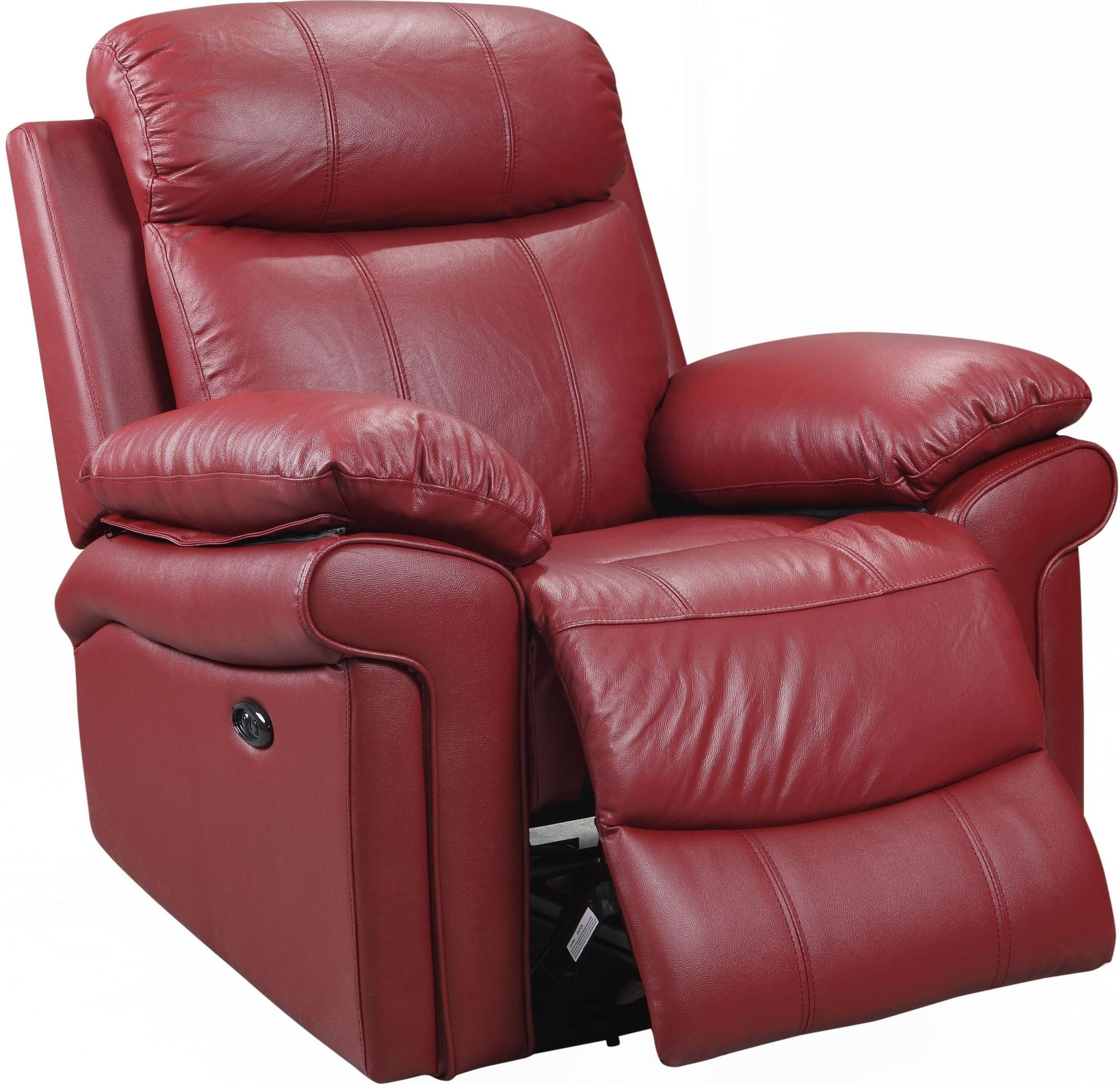 Shae Joplin Red Leather Power Reclining Chair from Leather