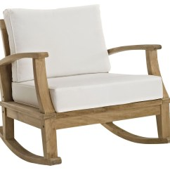 Coleman Rocking Chair Build Your Own Adirondack Marina Natural White Outdoor Patio Teak Rocker From
