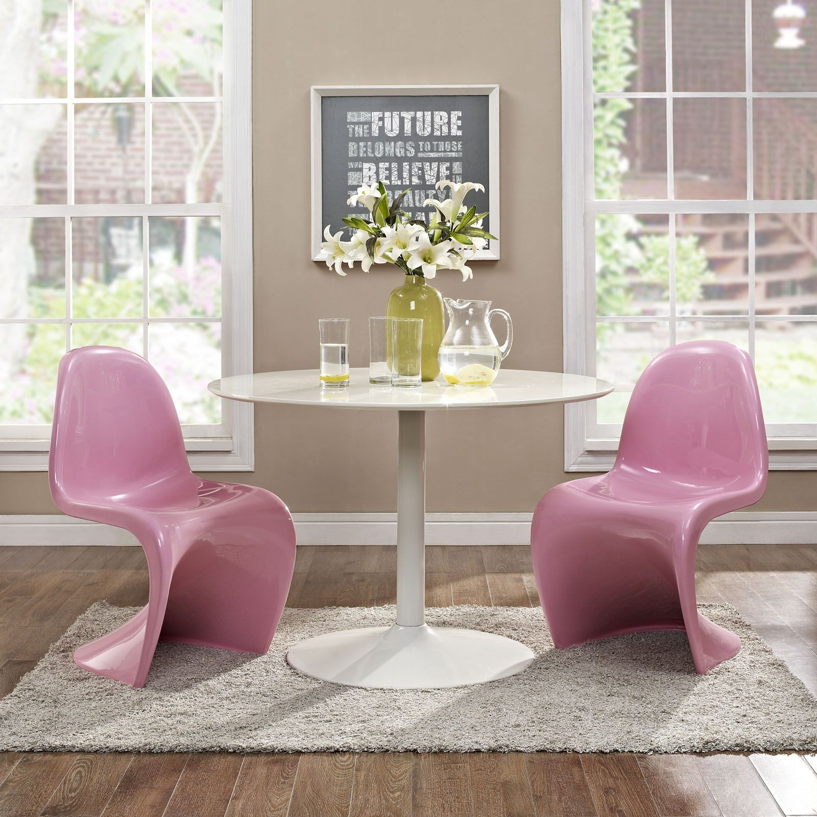 pink dining room chairs dark brown leather slither side chair set of 2 from renegade eei