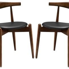 Dark Walnut Dining Chairs Ikea Childrens Stalwart Black Side Set Of 2