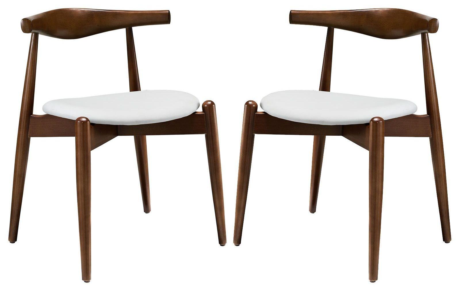 dark walnut dining chairs discontinued henredon stalwart white side set of 2