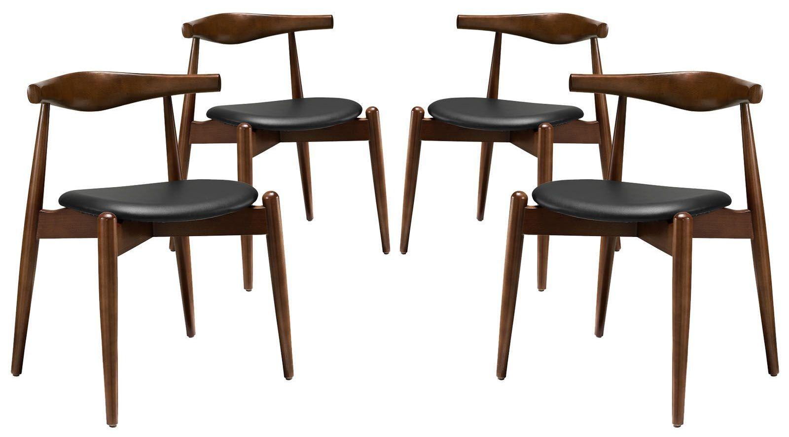 dark walnut dining chairs irish deck chair stalwart black side set of 4
