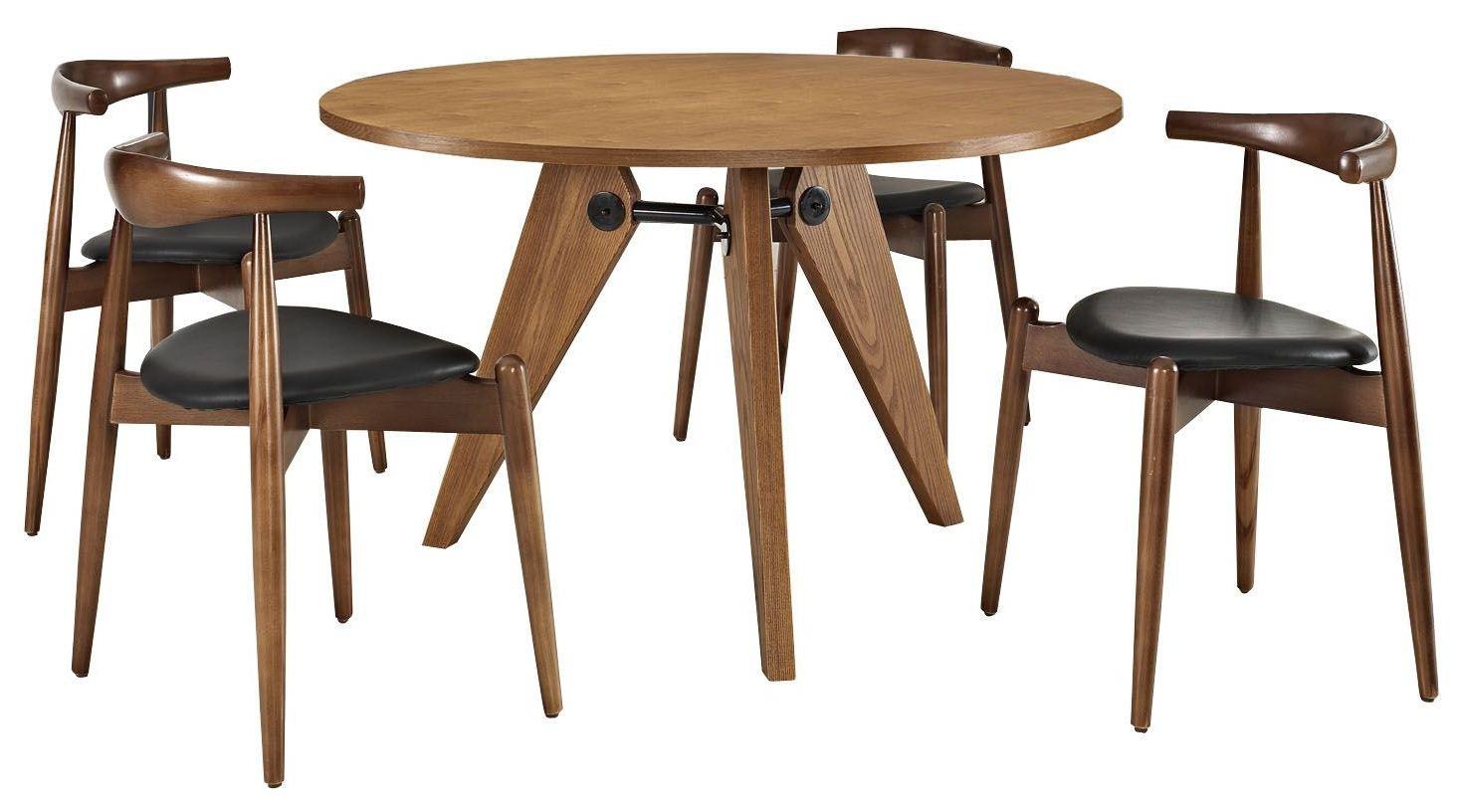 dark walnut dining chairs ninja turtle chair stalwart black and table set of