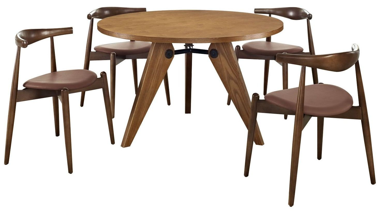dark walnut dining chairs mega motion lift stalwart tan and table set of 5