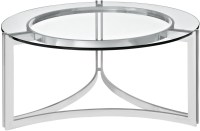 Signet Silver Stainless Steel Coffee Table from Renegade ...