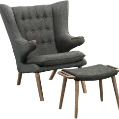 Grey Lounge Chair Bungee Target Pink Bear Walnut Gray With Ottoman From Renegade