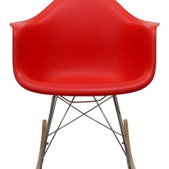 Coleman Rocking Chair Brown Office Guest Chairs Plastic Molded In Red From Renegade Eei 147
