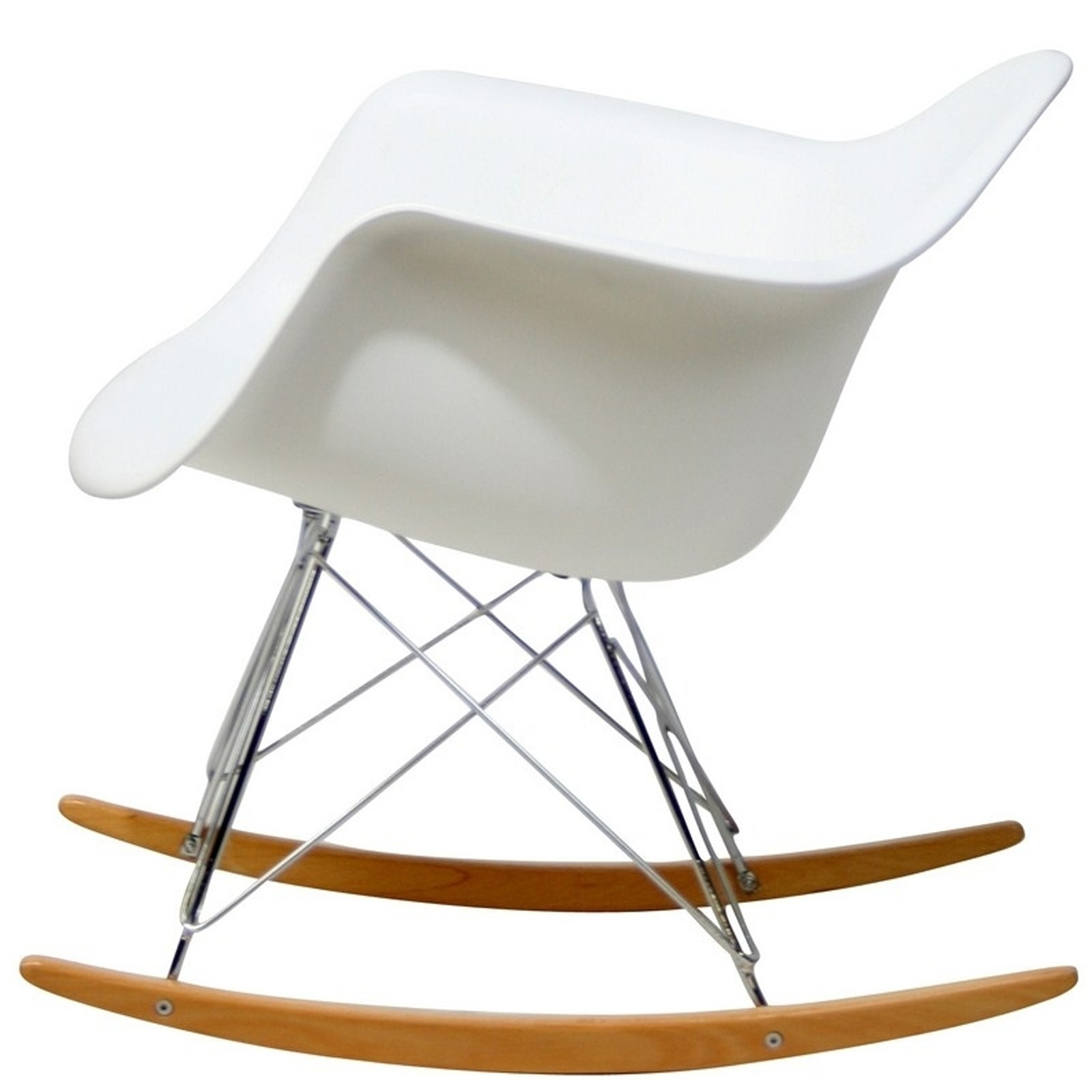coleman rocking chair black massage plastic molded in white from renegade eei